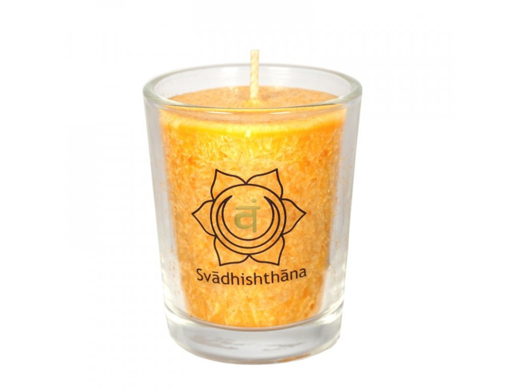 mini cakrova svice oranzova