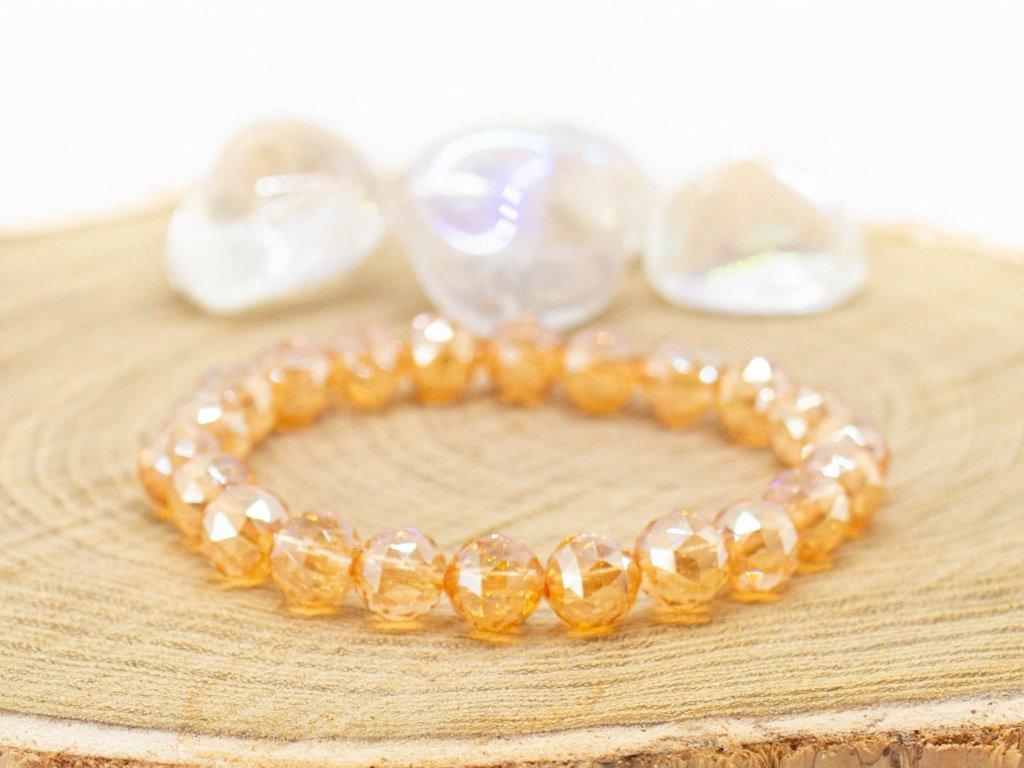 naramek kristal zlaty