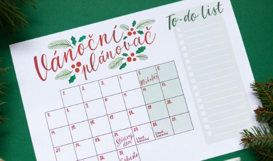 VYTISKNI SI - vánoční plánovač