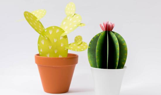VYROB SI - papírové kaktusy