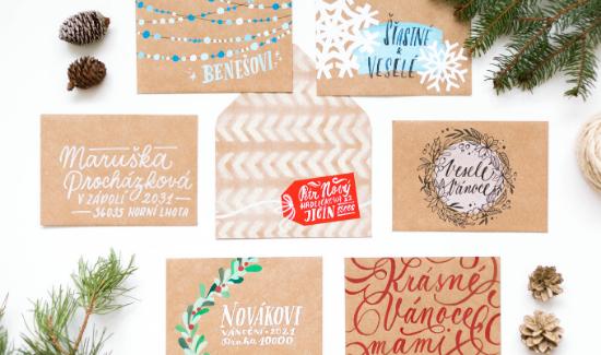 TIPY: Jak ozdobit vánoční obálku?