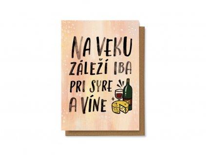 Na veku záleží iba pri syre a víne