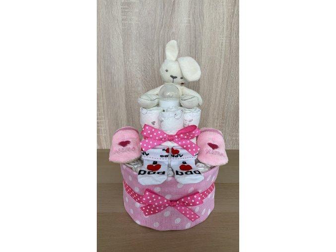 Plenkový dort - Dvoupatrový (růžový)