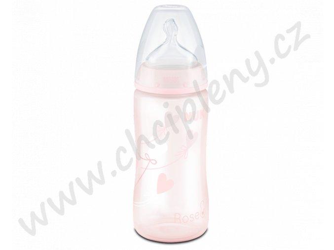 Flaška 300ml růžová + text