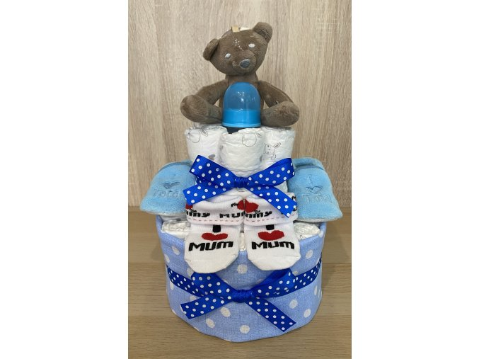 Plenkový dort Dvoupatrový modrý