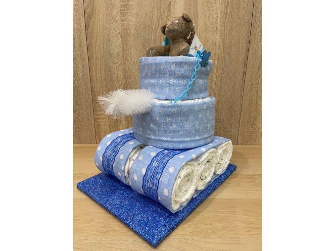 Plenkový dort Tank (modrá)