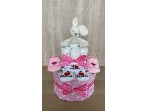 Plenkový dort Dvoupatrový růžový