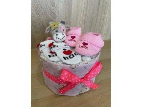 Plenkový dort - Jednopatrový (růžový)