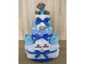 Plenkový dort - Třípatrový (modrý)