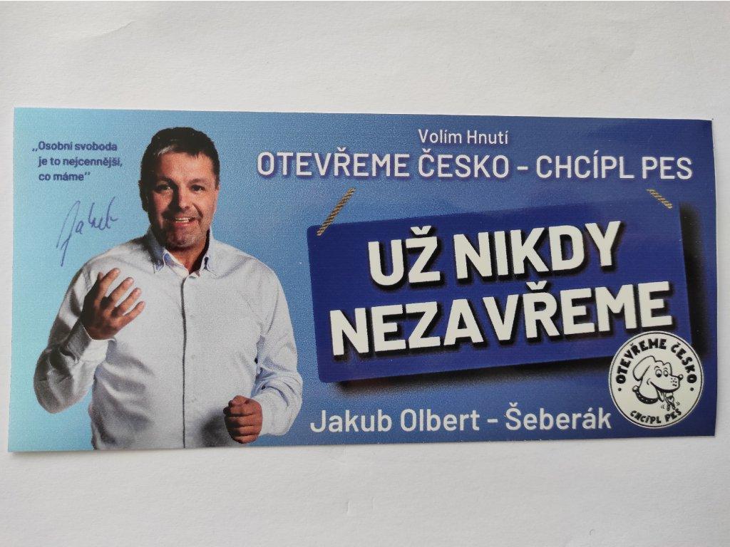 Samolepka OTEVŘEME ČESKO