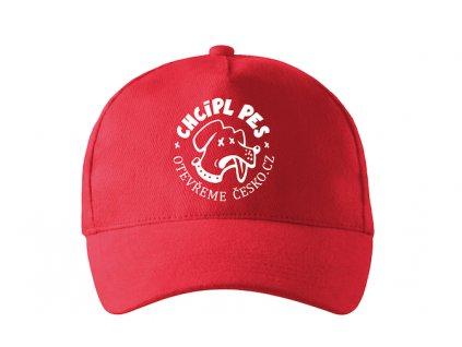 čepice Chcípl pes červená