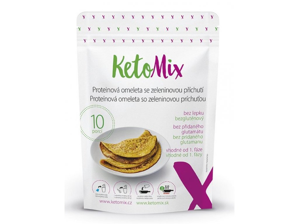171 proteinova omeleta se zeleninovou prichuti
