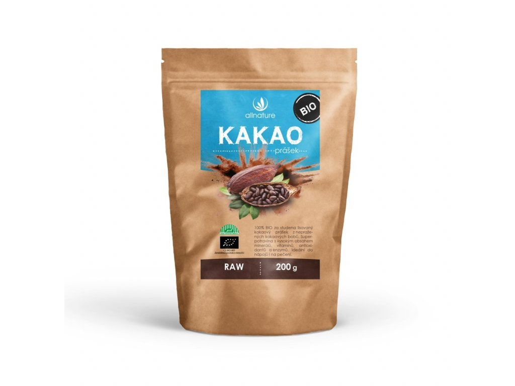 allnature kakaovy prasek bio raw 200 g