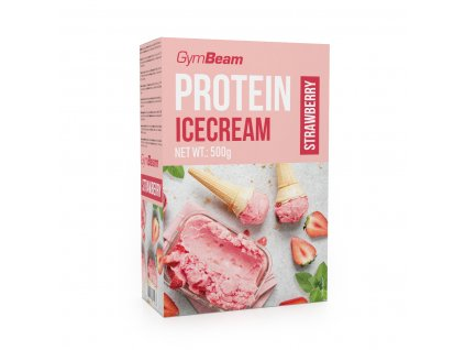 protein icecream 500 g strawberry gymbeam
