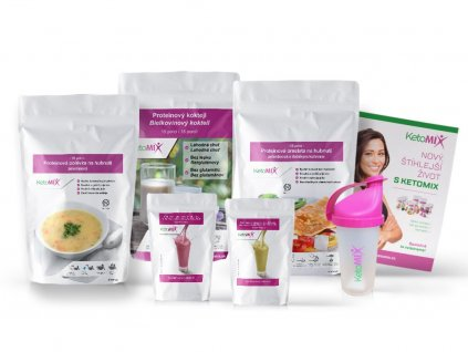 KetoMix Ketonová dieta na 7 dní (35 porcí)  + Jídelníček a SHAKER ZDARMA