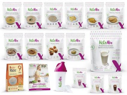 KetoMix Ketonová dieta na 4 týdny (140 porcí + 10 zdarma)  + Jídelníček a SHAKER ZDARMA