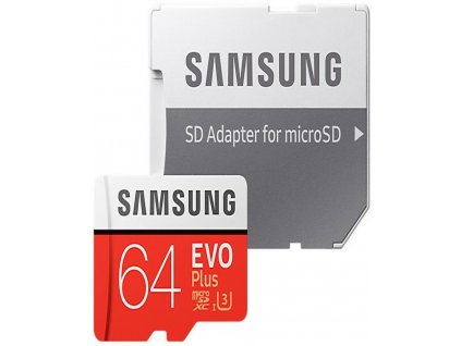 Samsung Micro SDXC EVO Plus 64GB UHS-I U3 + SD adaptér (MB-MC64GA/ EU)