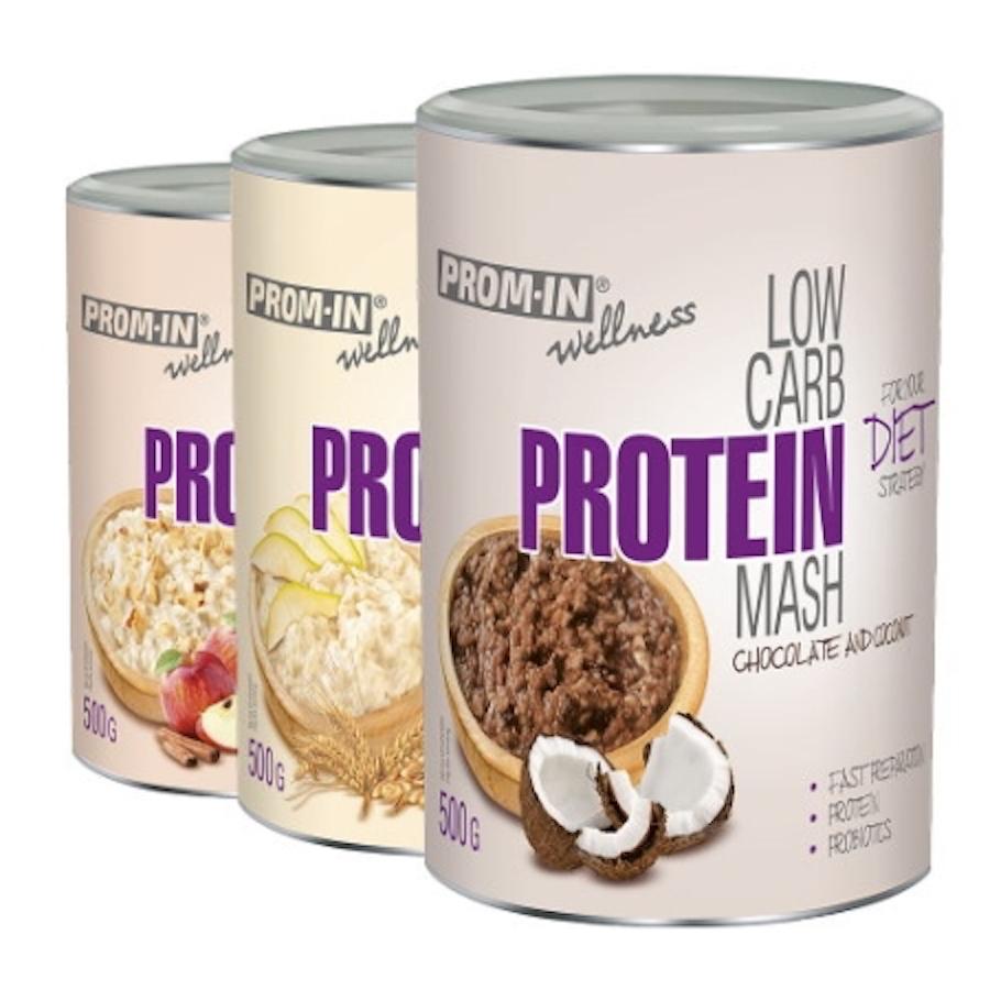 PROM-IN Low Carb Protein Mash 500 g Příchuť: Hruška