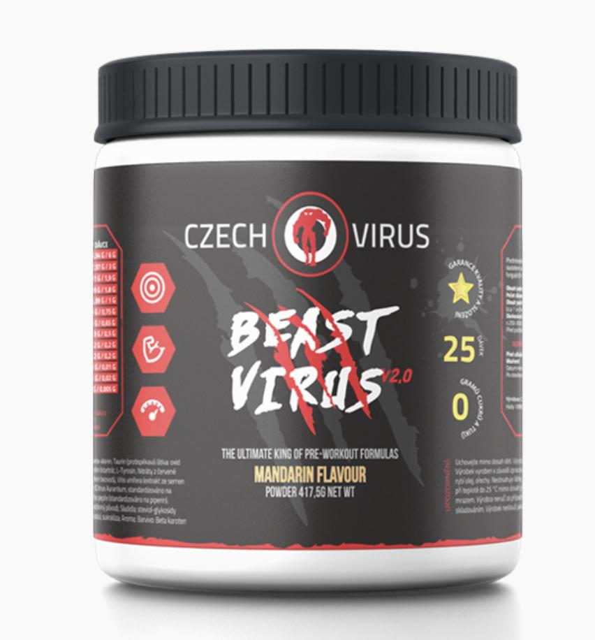 CzechVirus Czech Virus Beast Virus V2.0 417,5 g Příchuť: Mandarinka