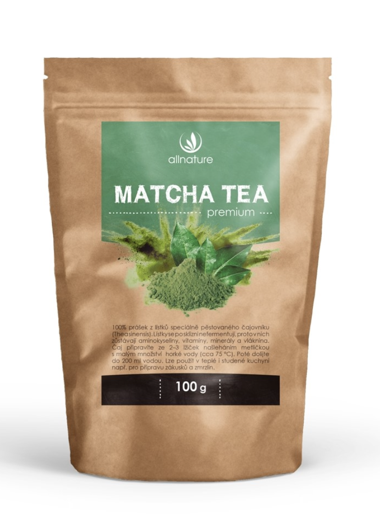 Allnature Matcha Tea Premium Hmotnost: 100g