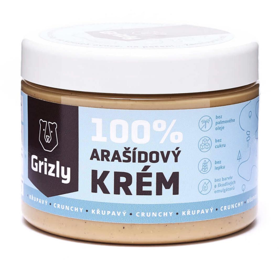 GRIZLY 100% Arašídové máslo 500 g Příchuť: Crunchy