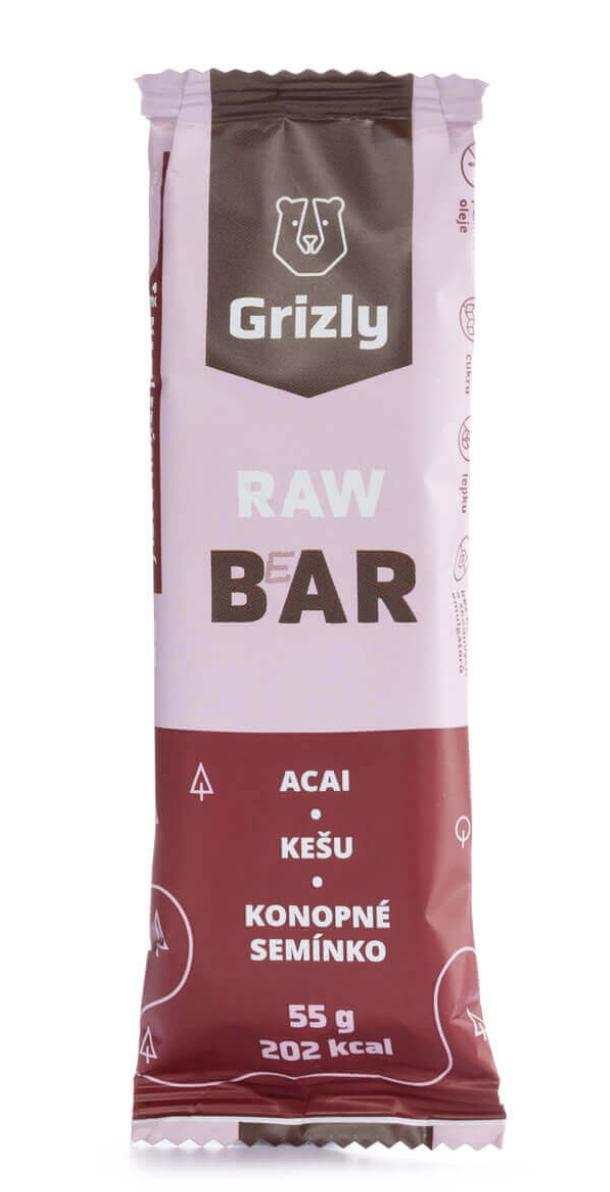 Grizly RAW Bar 55 g Příchuť: Kokos-kešu-kakao