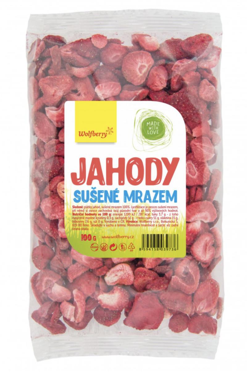 Wolfberry sušené plody Příchuť: Jahoda, Hmotnost: 100g