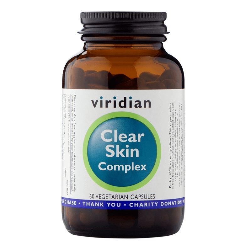 Viridian Nutrition Viridian Clear Skin Complex Hmotnost: 60 tablet