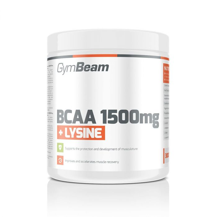 GymBeam BCAA 1500 + Lysin 300 tablet Hmotnost: 300 tablet