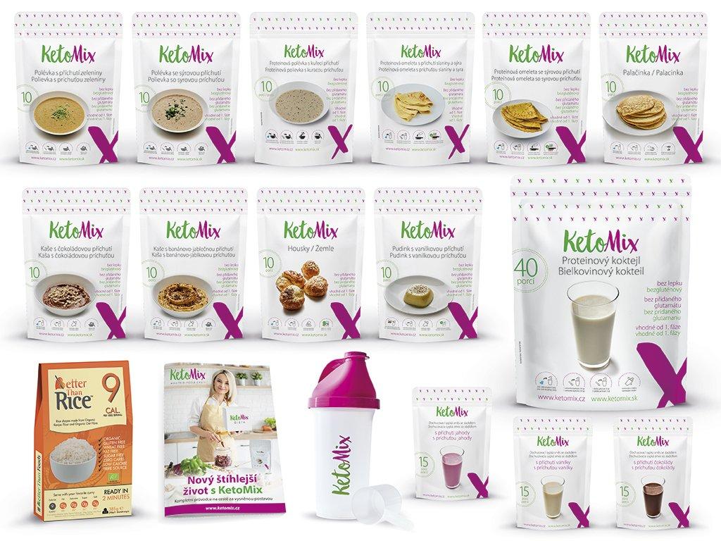 KetoMix Ketonová dieta na 4 týdny (140 porcí) Příchuť: Čokoláda + Jahoda + Vanilka