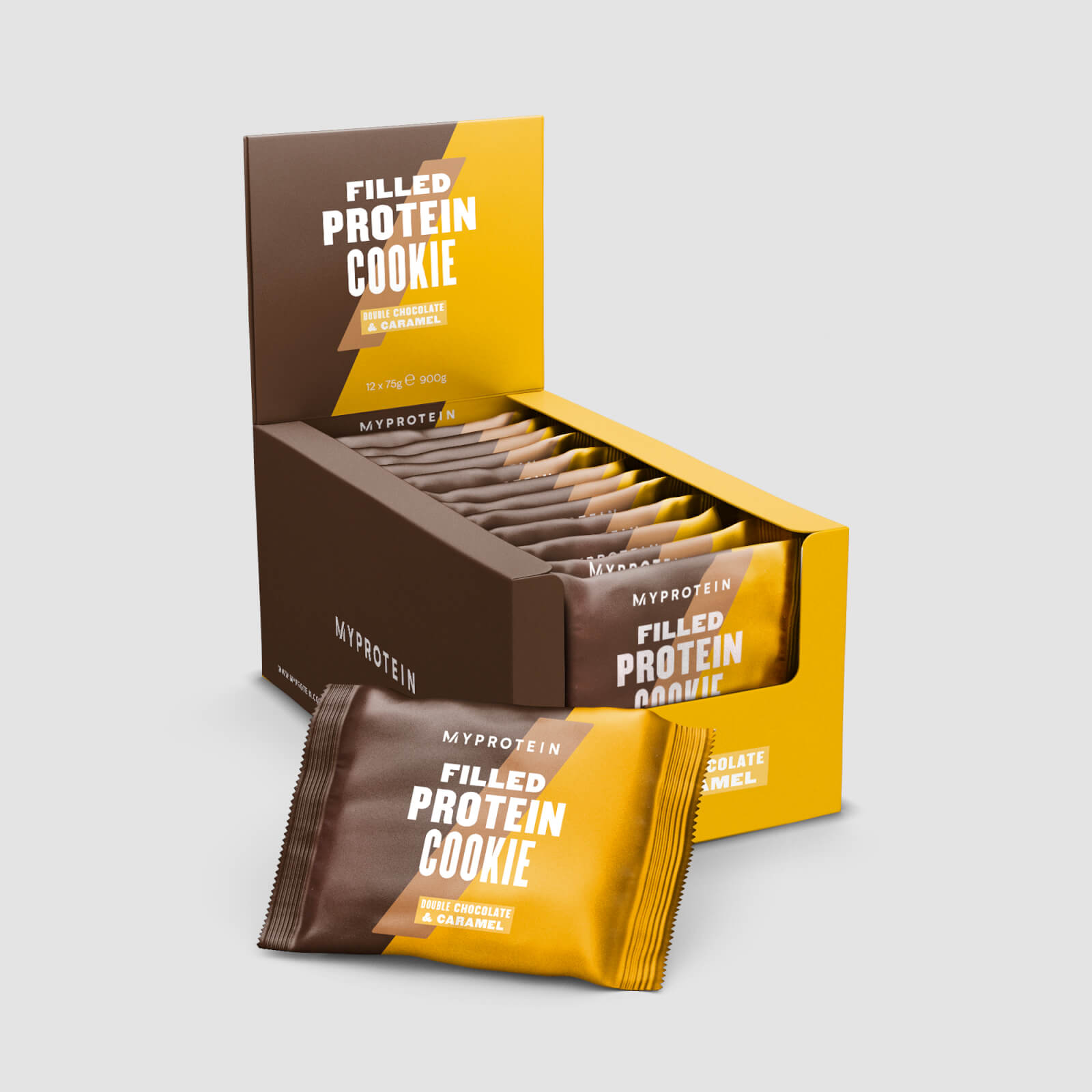 Myprotein Plněné proteinové cookies 75g Příchuť: Čokoláda- karamel