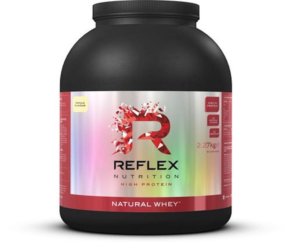 Reflex Nutrition Natural Whey 2270 g Příchuť: Jahoda