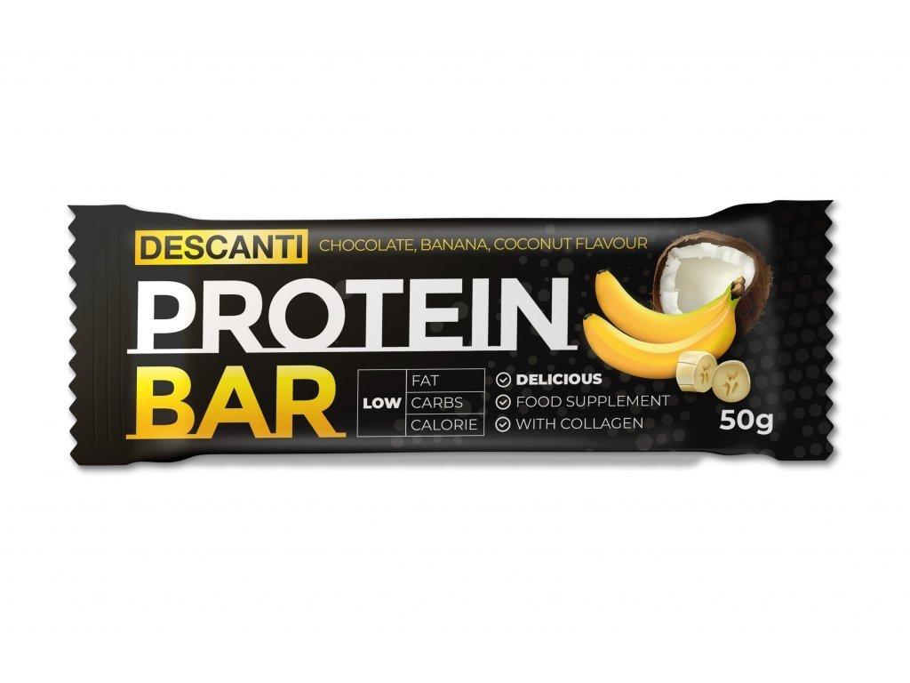 Descanti protein bar 50g Příchuť: Banán kokos