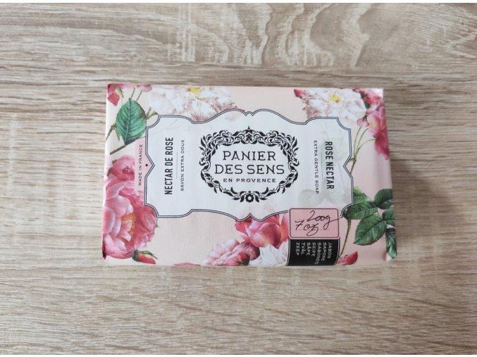 Panier des Sens Mýdlo s bambuckým máslem - Nektar z růží 200g