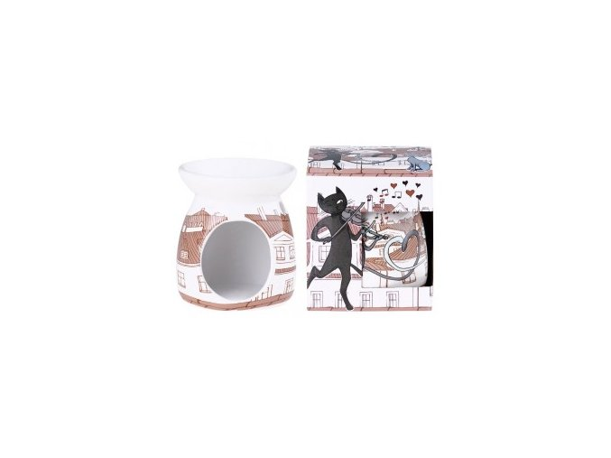 Aromalampa keramická 92x106 mm Kočky