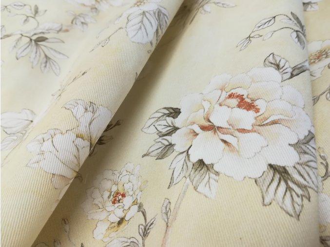 Bavlněná látka TWISTER JOLIE D23- květy , š. 140cm 100% bavlna