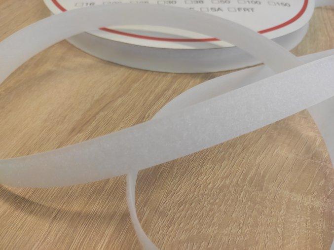 SUCHÝ ZIP měkký smyčky 20 mm, bílý