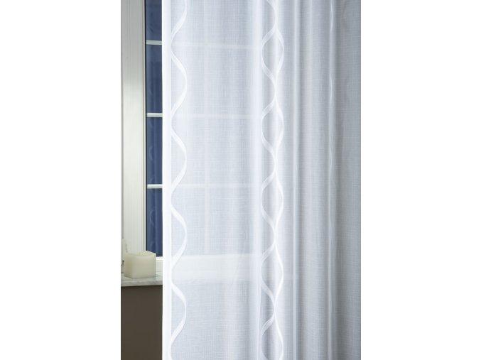 Záclona sable ALLIUM 01 bílé 300 cm + olůvko