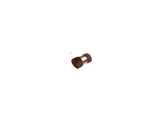 Deka Coral fleece 150 cm x 200 cm, 10 hnědá čokoládová