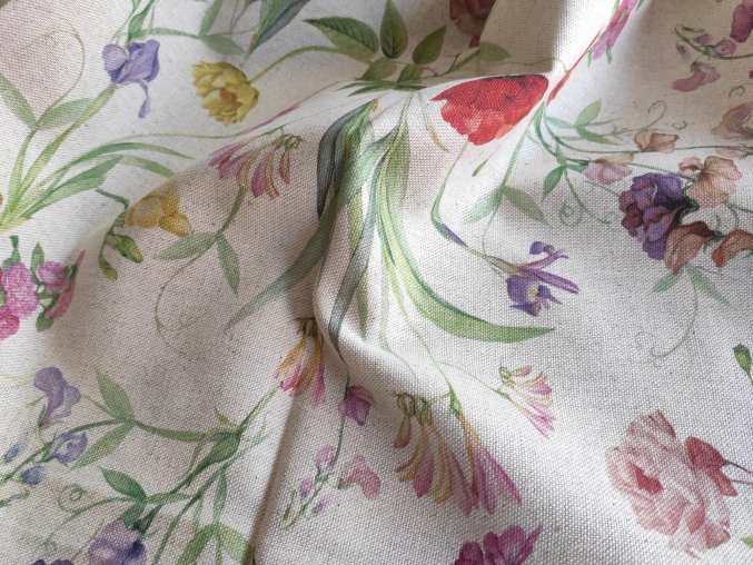 Dekorační látka LUJAN 02 luční květy