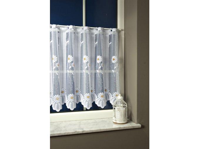 Záclona žakárová vitrážka 7001 v.60 cm bílá