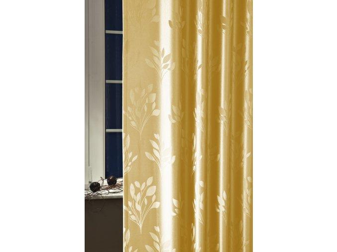 Dekorační látka VERA 18 zlatá 300 cm