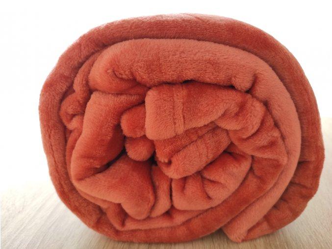 Coral fleece 150 cm x 200 cm 17 korálová