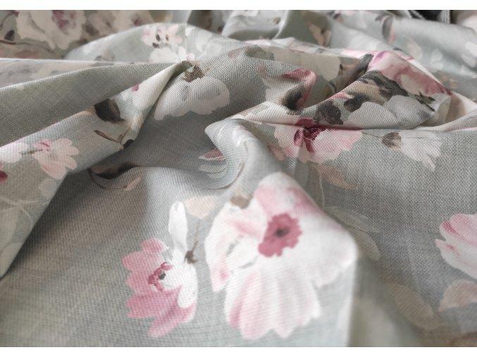 Dekorační látka FLORY ROSE 06 š. 140 cm květy