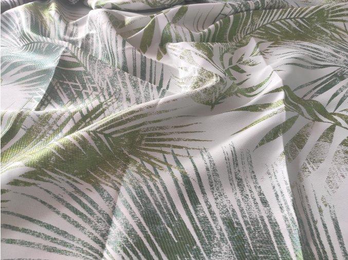 Dekorační Látka KARLA 45, listy zelená