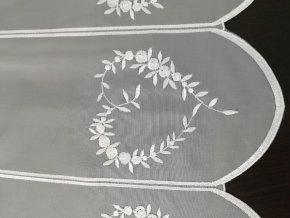Záclona- MERRY/v. 60cm bílá vyšívka na voálu