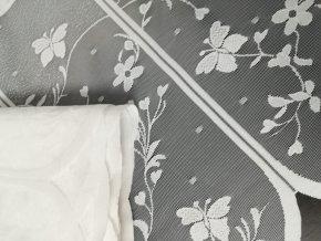 Záclona-Žakár-Motýlek-vitráž/ 3623/v. 45cm bílá