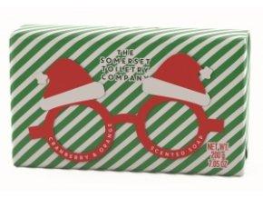 Somerset Toiletry Luxusní Vánoční mýdlo - Sváteční brýle - Santa