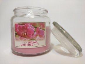 Vonná svíčka ve skle VŮNĚ PINK ORCHIDEA