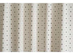 Bavlněná látka TWISTER TRIBUS G25 barevné křížky  na bílé, š. 140cm, 100% bavlna